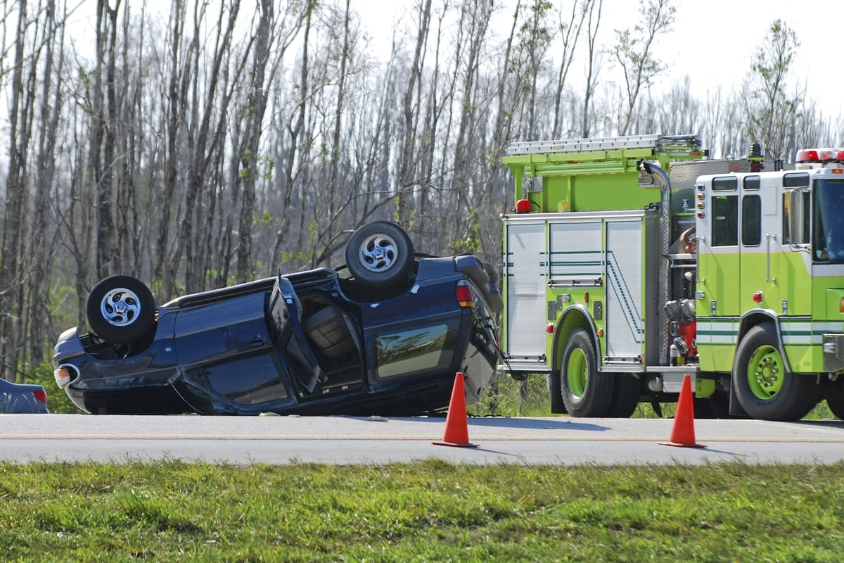 New Port Richey Flipped over Car Accident