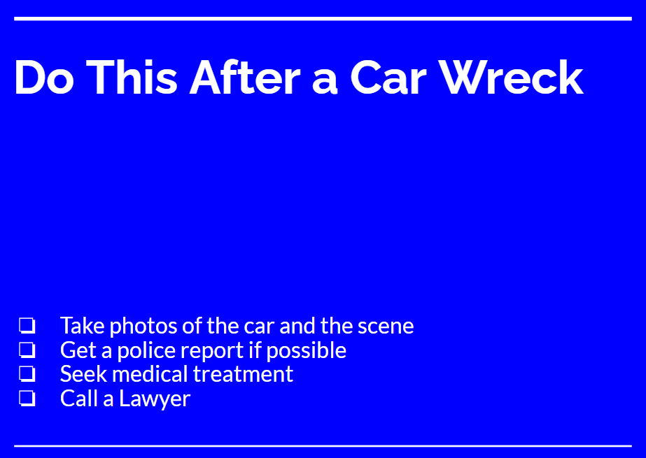 Florida car accident attorney immediate steps after wreck